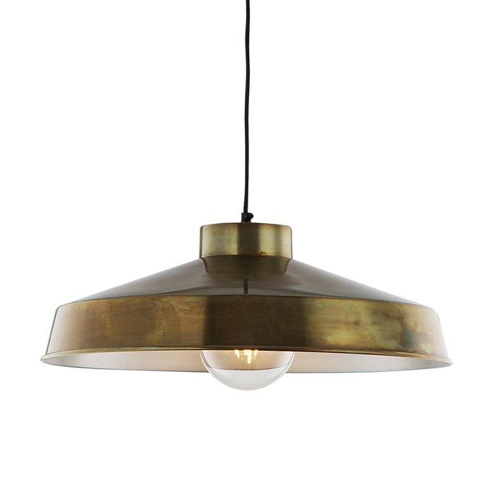 Kendrick - Aged Brass Industrial Pendant