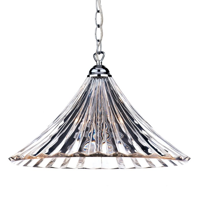 Fluted Clear Glass Pendant