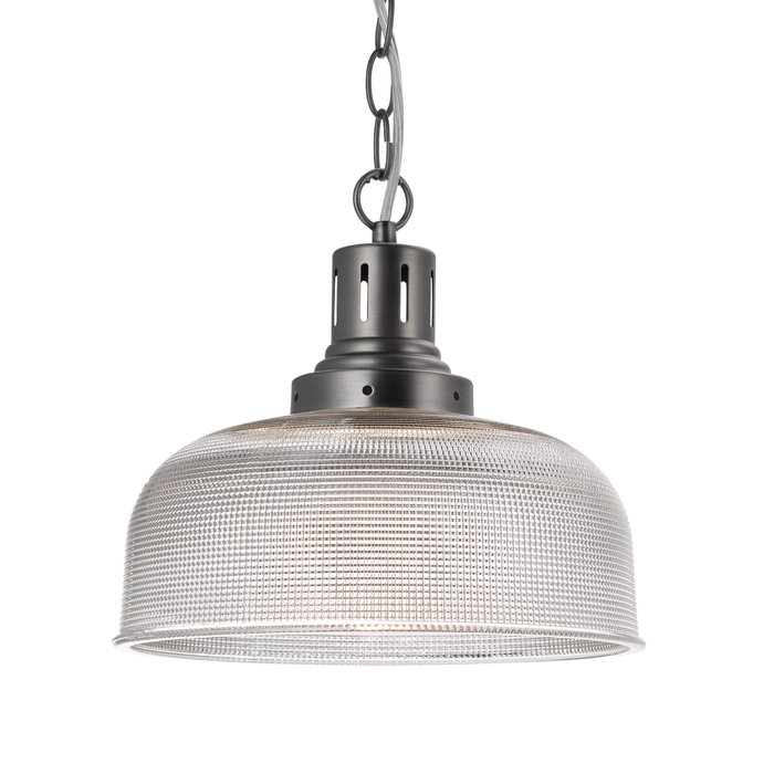 Irvine - Prismatic Glass & Nickel Industrial Pendant
