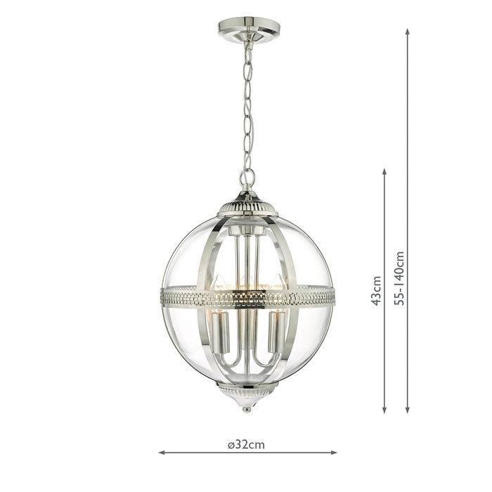 Heritage - Polished Nickel & Glass Globe