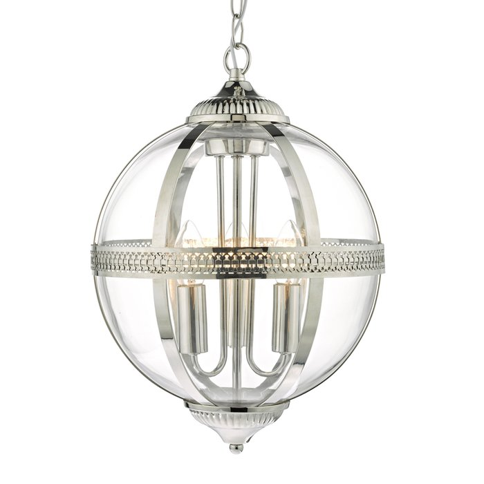 Heritage - Polished Nickel & Glass Globe