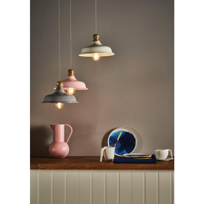 Tygo - Pink & Wood Retro Pendant