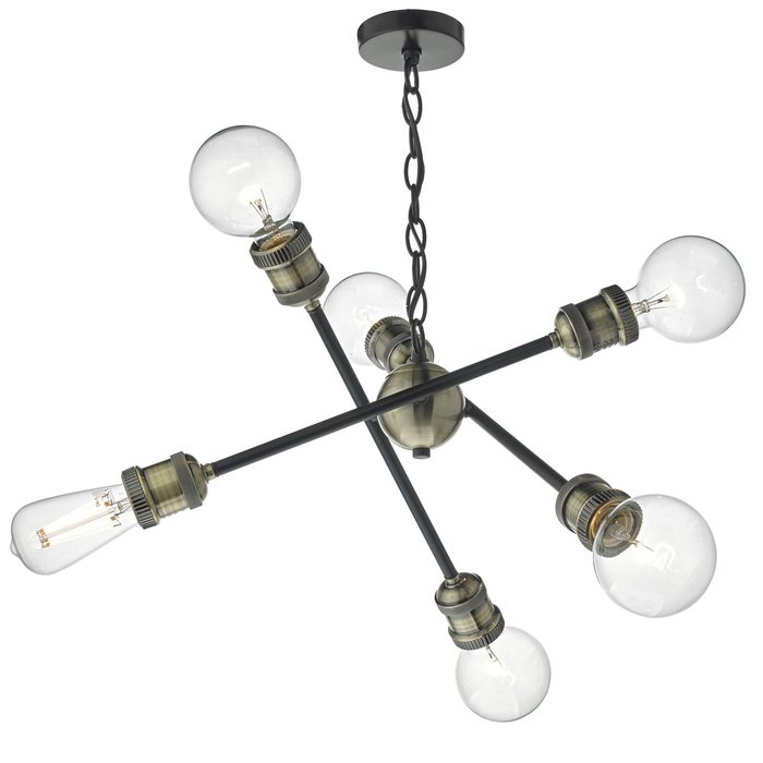 Darby - Industrial Sputnik Feature Pendant