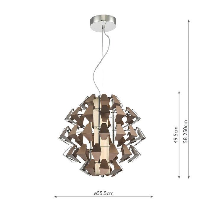Eagle - Modern Statement LED Ceiling Light -Bronze