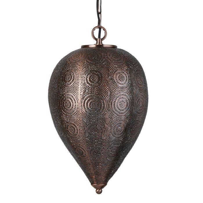Tapered Moroccan Pendant - Antique Copper