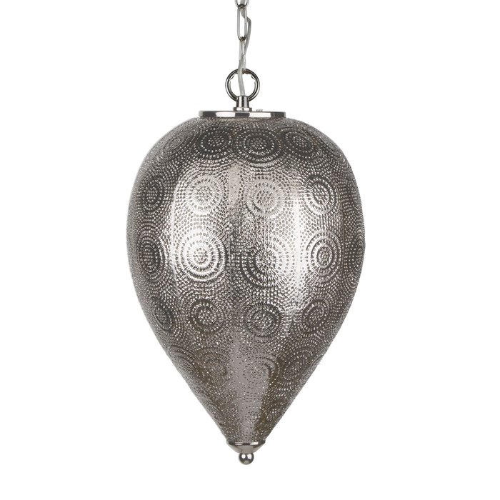 Tapered Moroccan Pendant - Shiny Nickel