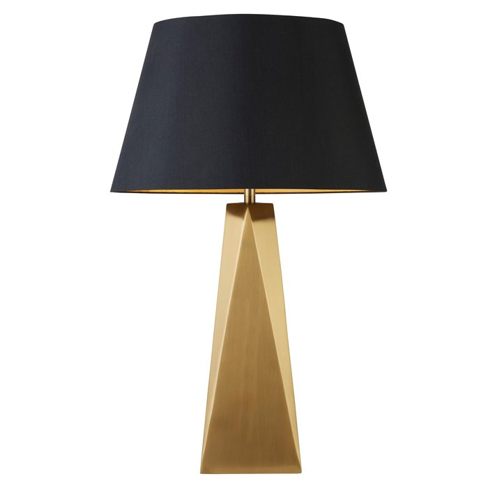 Aldo - Carved Gold Modern Table Lamp