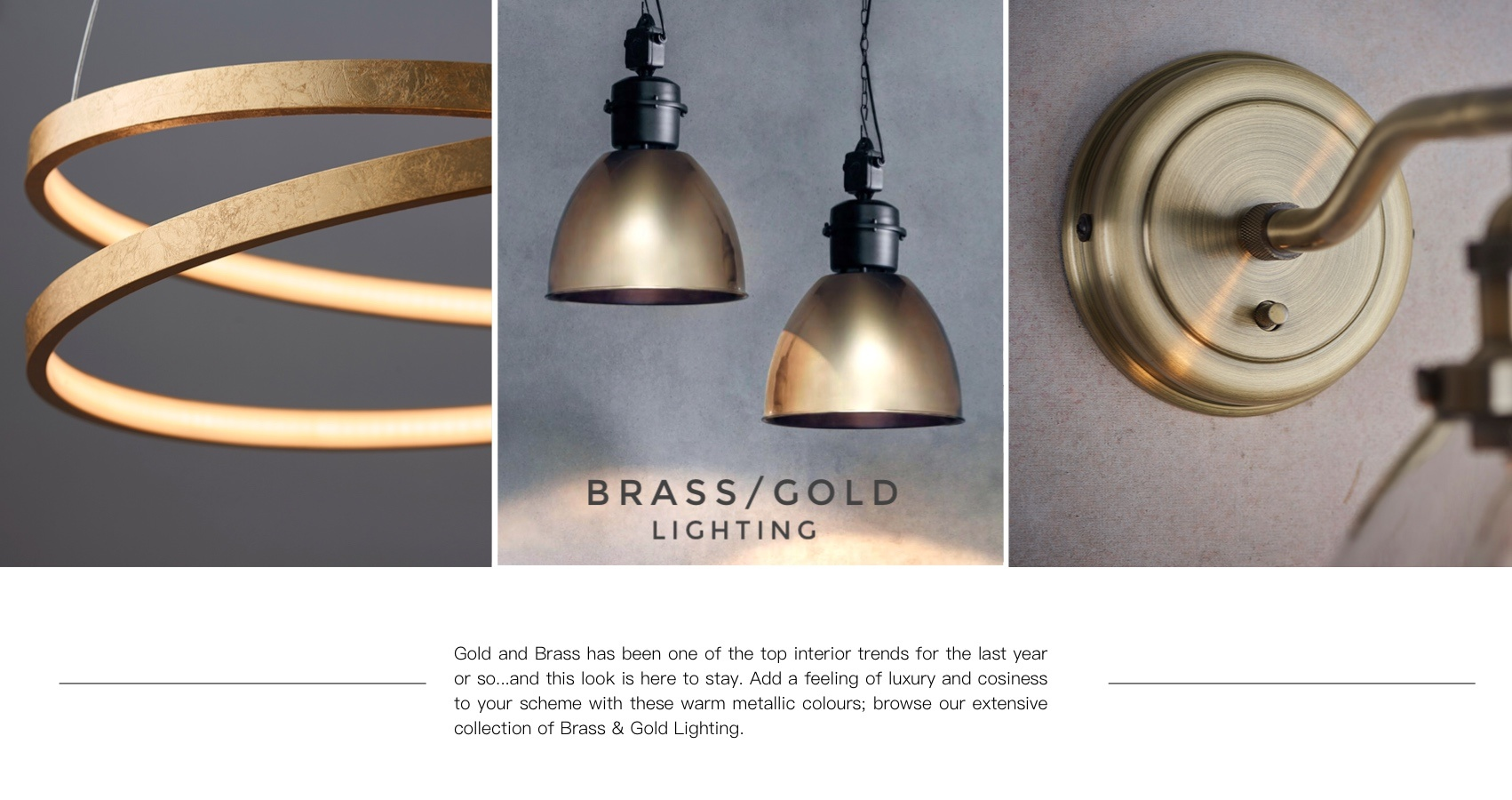 Brass/Gold Lighting