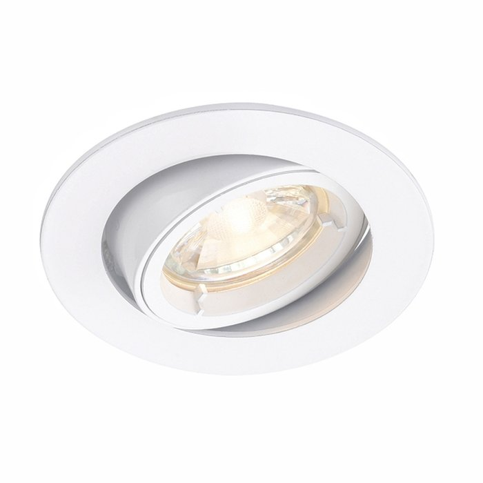 Matt White Recessed Tilt Spotlight