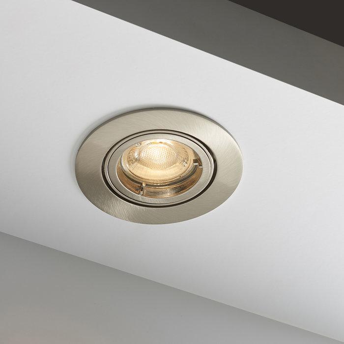 Satin Nickel Recessed Tilt Spotlight