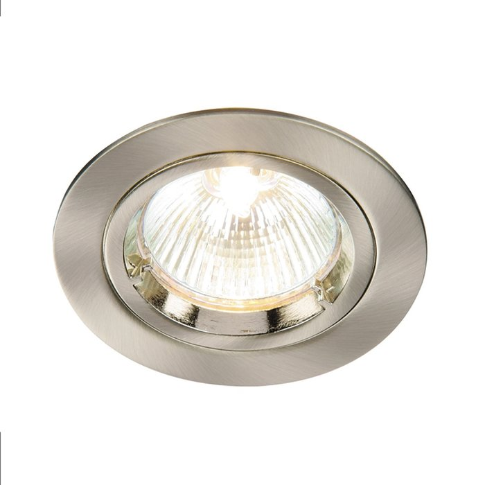 Satin Nickel Recessed Fixed Spotlight