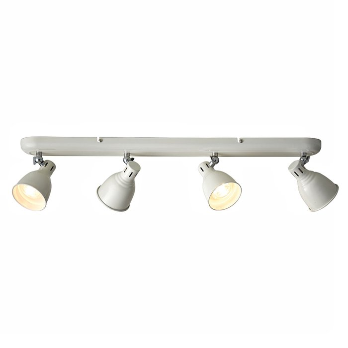 Country - Industrial LED Spotlight - 4 Light Bar - Gloss Ivory