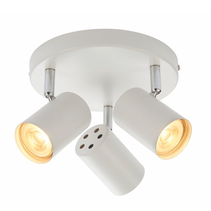 Zetto - 3 Light Round Spotlight - Matt White