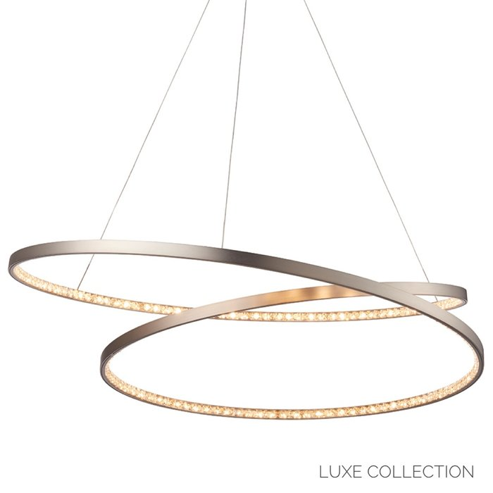 Etta - Modern LED Crystal Rings - Feature Pendant - Matt Nickel