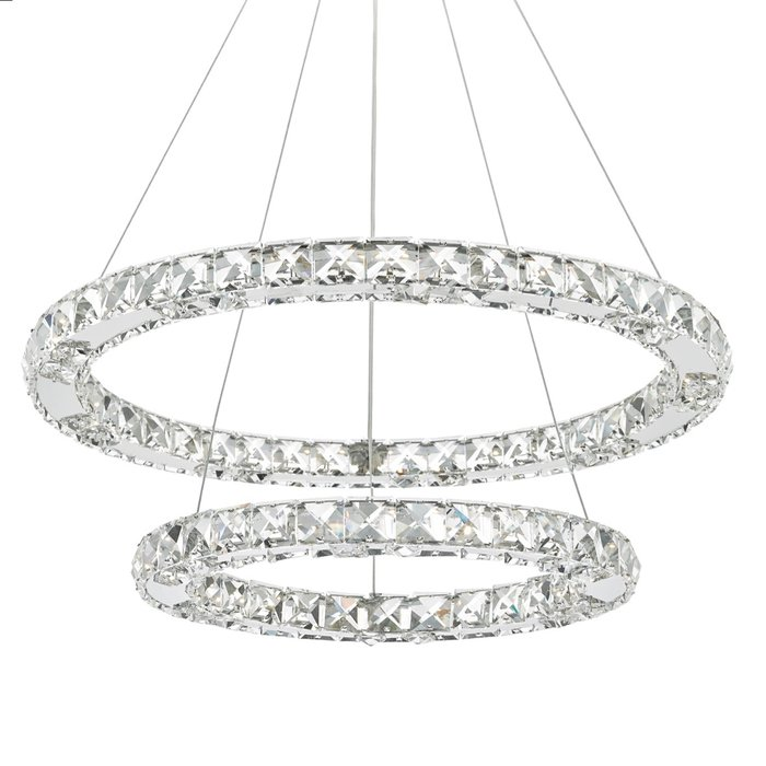 Roma - LED Crystal & Chrome Rings Feature Light