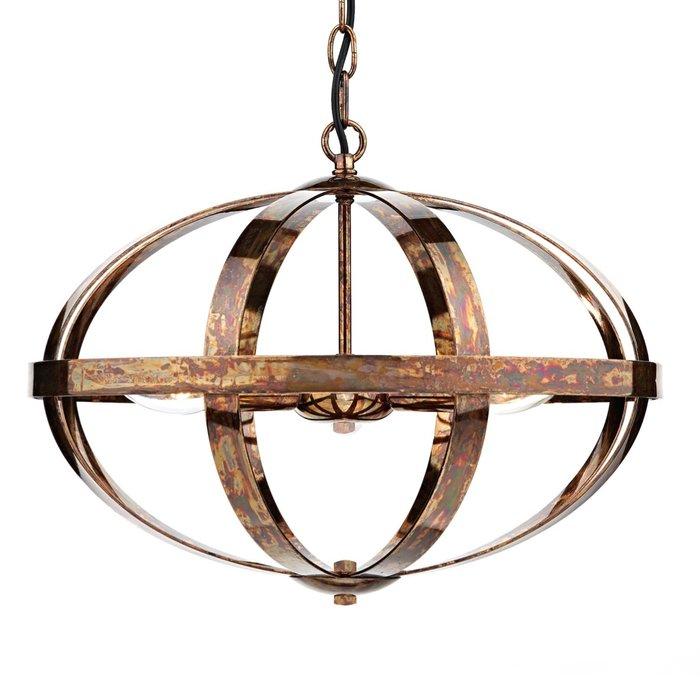 Dappled Copper Cage Feature Pendant