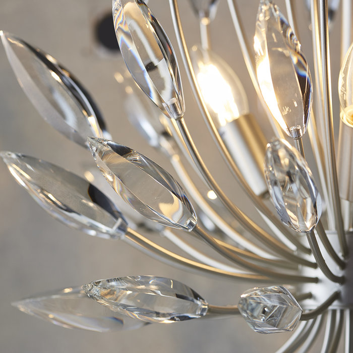 Rianna - Champagne Finished Clear Crystal Glass Feature Light
