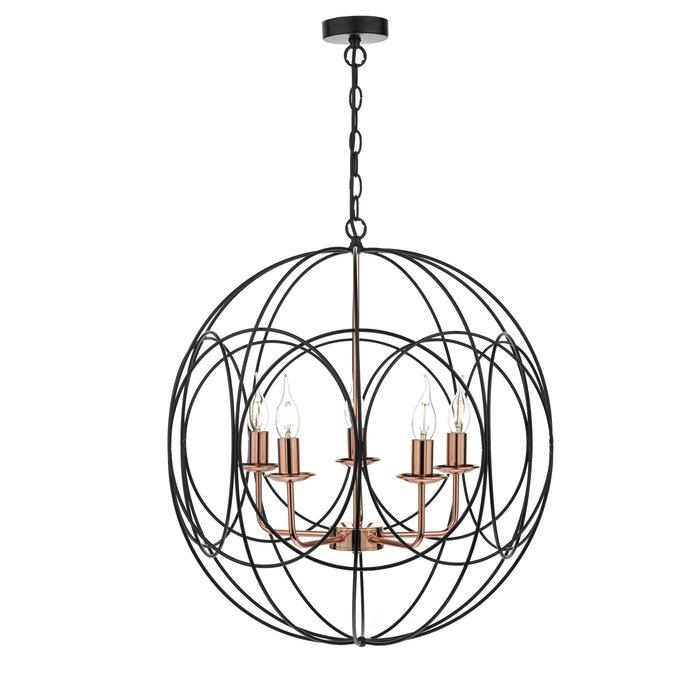 Phoenix - Large Black Cage & Copper Pendant