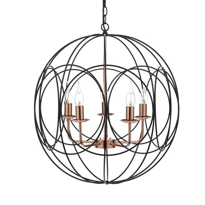 Phoenix - Large Black Cage & Copper Pendant
