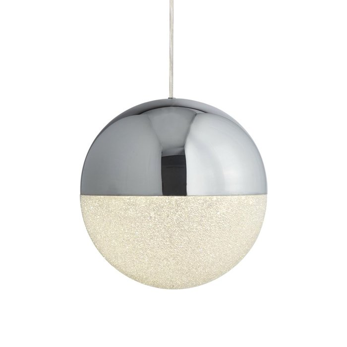 Keln - LED Globe - Polished Chrome & Crushed Ice Sparkle