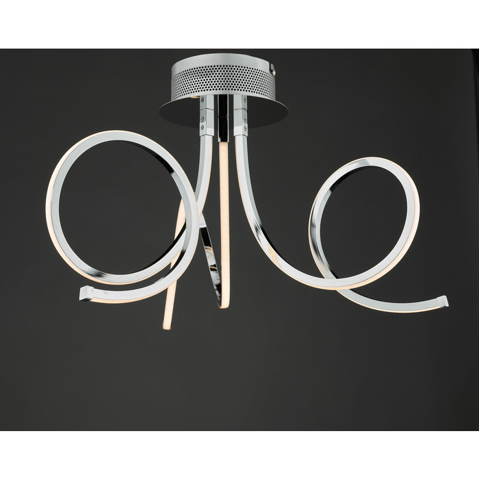 Tiro - LED Spirals Semi Flush Ceiling Light
