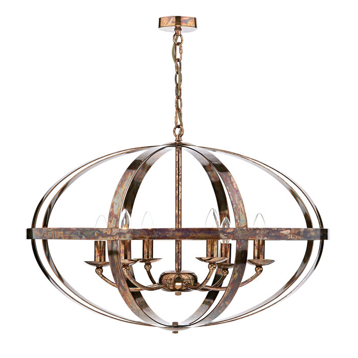 Industrial Copper Cage - Large Oversized Feature Light