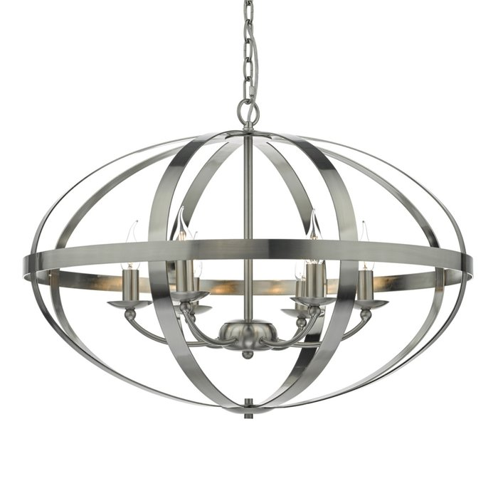 Industrial Satin Chrome Cage - Large Oversized Feature Light