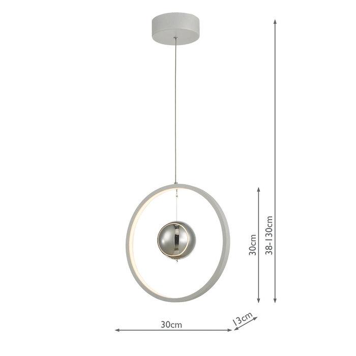 Radius - Matt Grey LED Feature Ceiling Light - Small