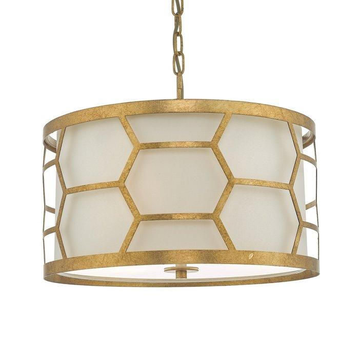 Esteem - Modern Gold Leaf Drum Feature Light