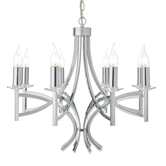 Lyon - Large Classic Chrome & Crystal Chandelier