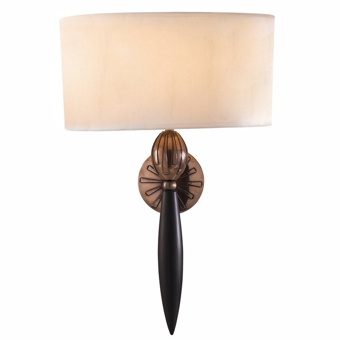 Contour Classic Wall Light - David Hunt - White Silk Shade