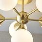 Arne - Mid Century Semi-Flush Ceiling Light - Brushed Brass