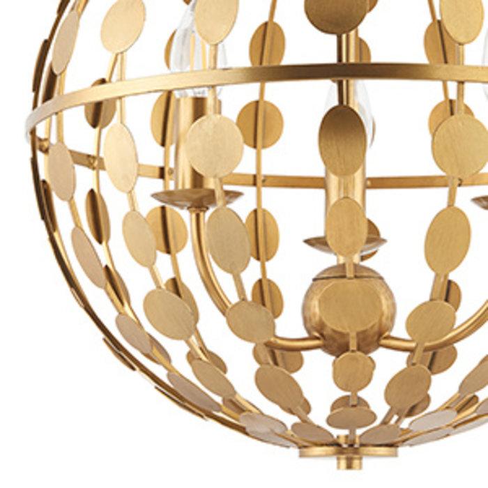 Alvo - Gold Leaf Orb Feature Pendant