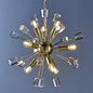 Mera - Satin Brass Modern Crystal Sputnik Feature Light