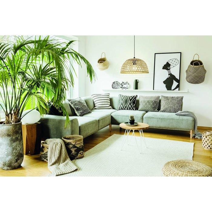 Boho Natural Woven Wood Pendant  - Large