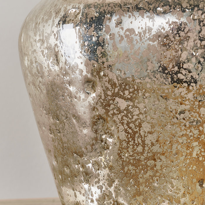 Meteor - Hammered Pearl Ombre Foil Table Lamp