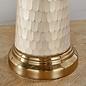 Viv - Vintage White & Pearl Effect Glass Table Lamp