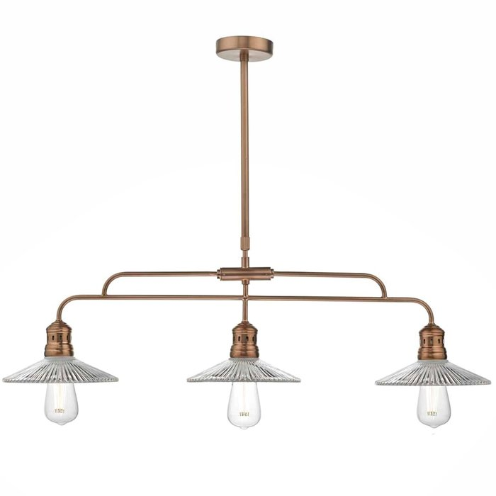 Farmhouse Bar Kitchen Dining Pendant - Brushed Copper