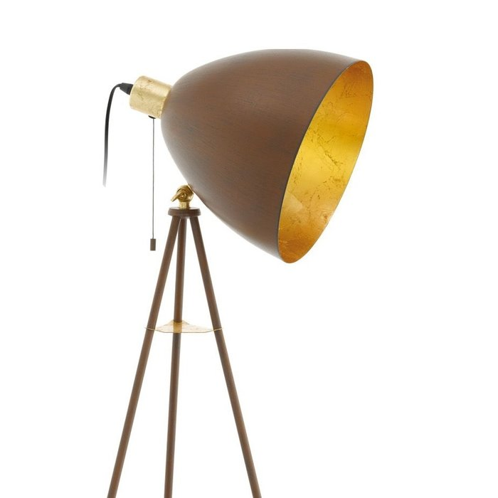 Cheshire - Gold & Rust Tripod Floor Lamp