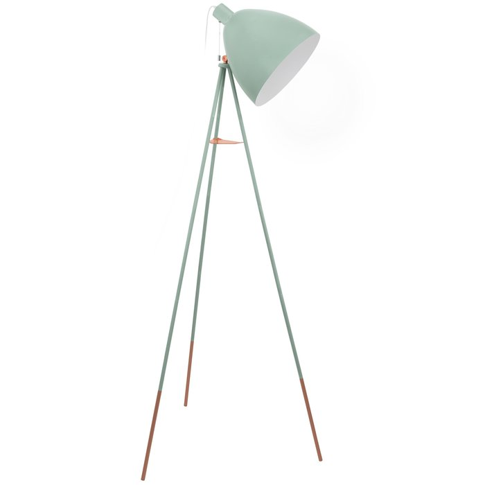 Cheshire - Pine Green & Brass Tripod Floor Lamp