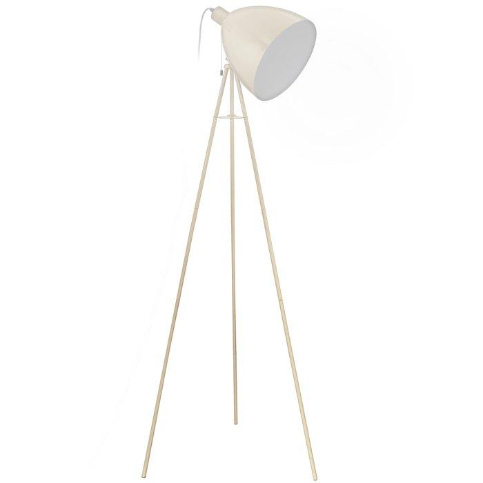 Cheshire - Sand & White Tripod Floor Lamp
