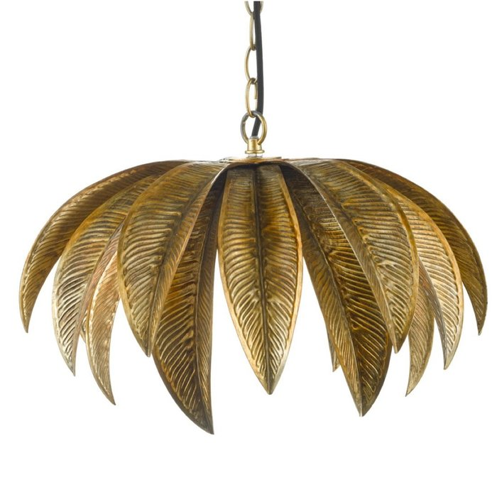 Kara - Palm Tree Antique Gold Feature Pendant