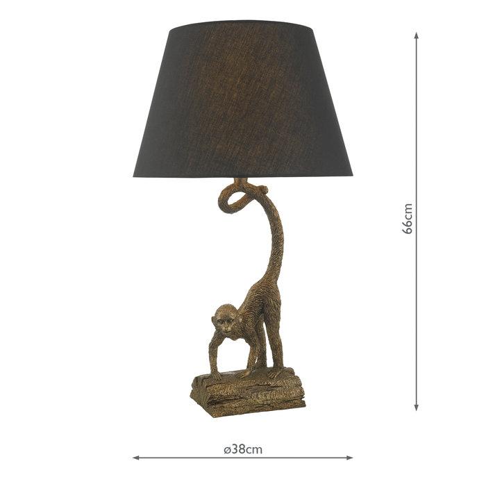 Wayne - Bronze Monkey Table Lamp