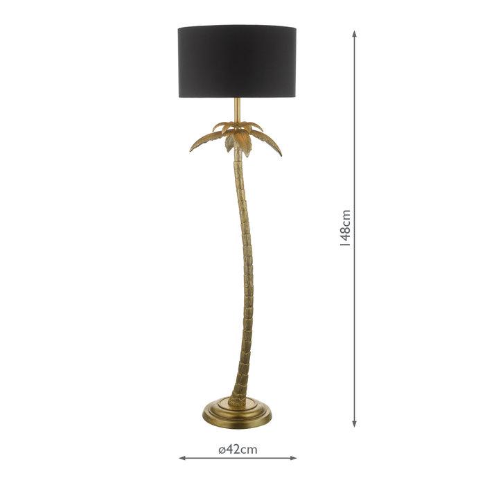 Palm - Antique Gold Palm Tree Floor Lamp
