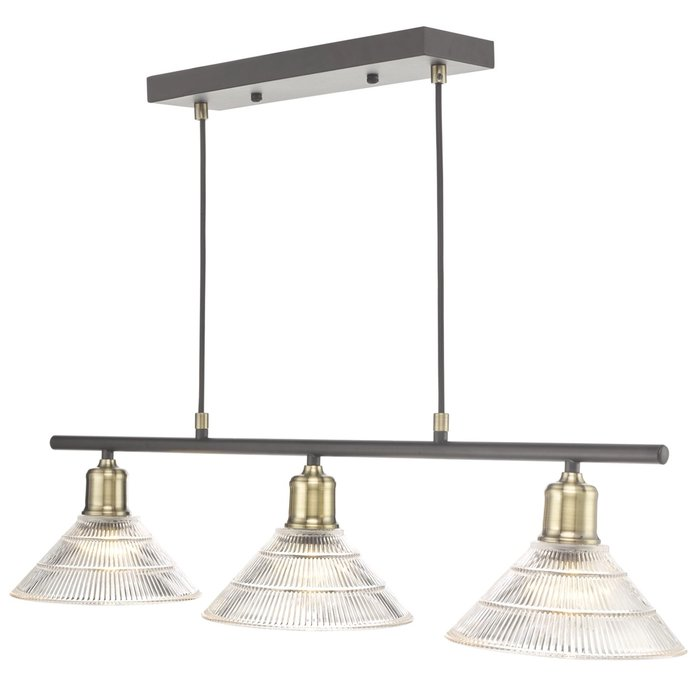 Bide - Industrial Bar Pendant Light - Prismatic Glass