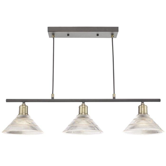 Bide - Industrial Bar Pendant Light - Prismatic Glass
