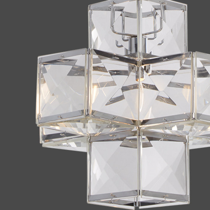 Cube - Modern Stacked Cube Feature Light   - Small