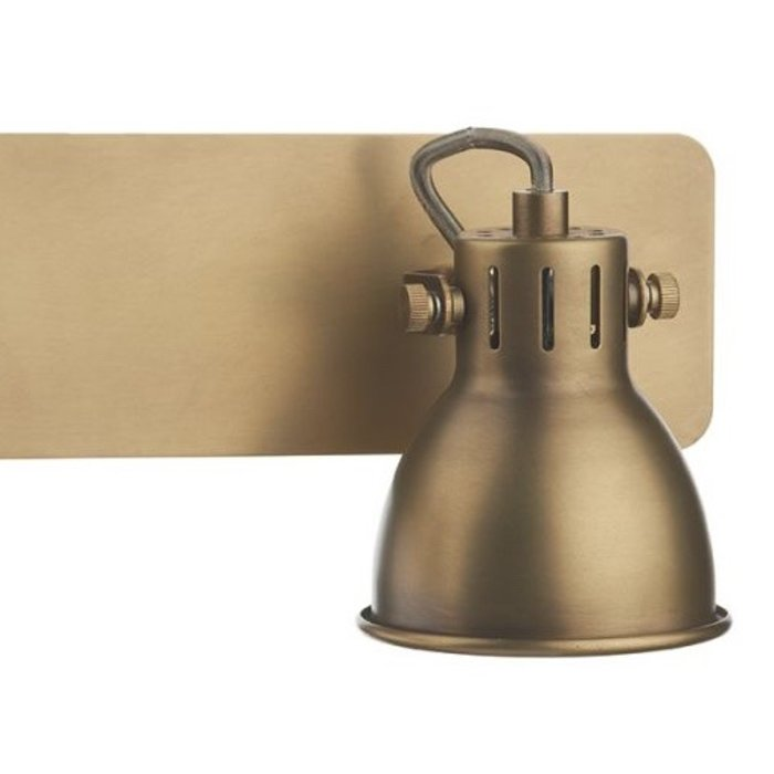 Industrial Double Spotlight - Aged Brass