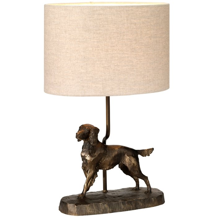 Oscar - Bronze Patina Dog Table Lamp