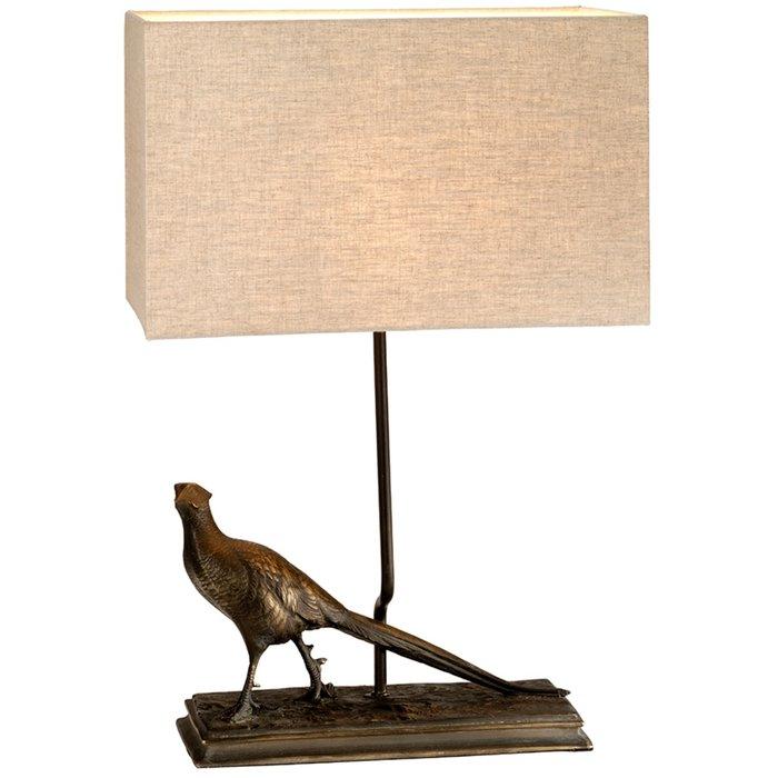 Argus  - Bronze Patina Pheasant Table Lamp